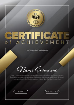 Fresh modern certificate template