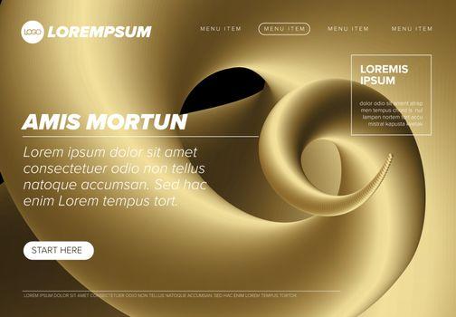 Modern premium landing web page template