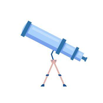 Telescope cartoon vector illustration