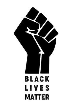 Black Lives Matter raised fist symbol illustration