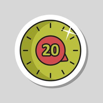 Timer vector icon. Kitchen appliance