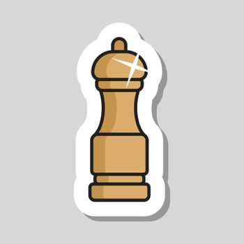 Pepper mill spice grinder vector icon