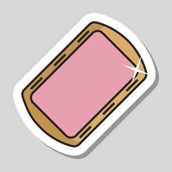 Pan tray for cooking and baking in oven icon