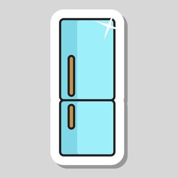 Refrigerator vector icon. Kitchen appliance