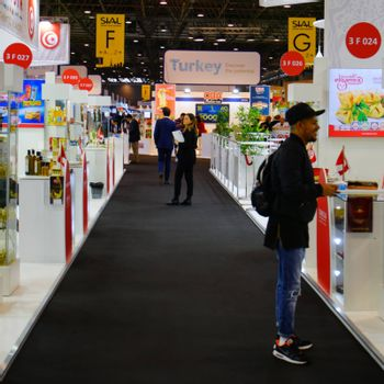 Paris/France - October 24 2018: SIAL trade fair specialized at food industry