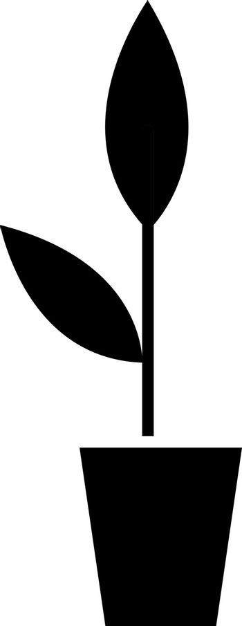 Potted plant black glyph icon