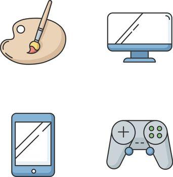 Recreation RGB color icons set