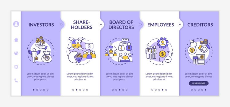 People involved in corporation onboarding vector template