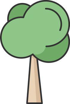Tree RGB color icon