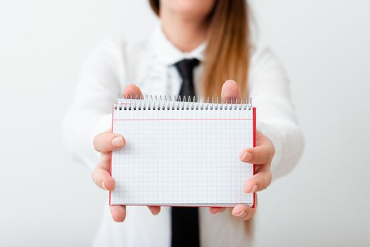 Model Displaying Different Empty Color Notepad Mock-Up For Writing Idea