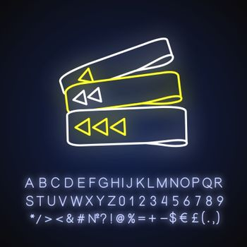 Resistance bands neon light icon
