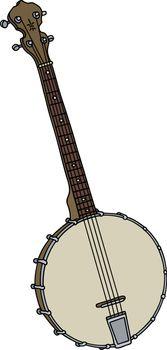 old four strings banjo