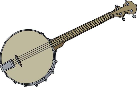 Vintage four strings banjo