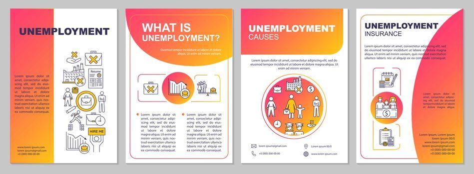 Unemployment issue brochure template