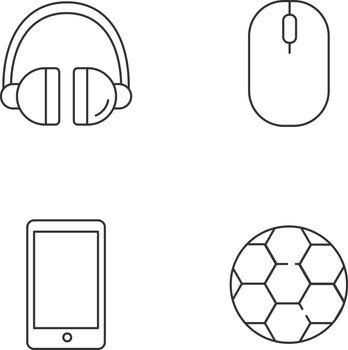 Entertainment linear icons set