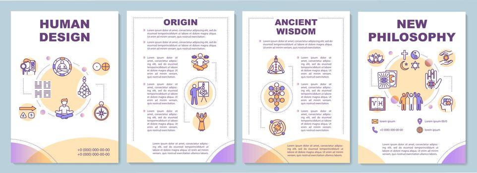 New philosophy brochure template