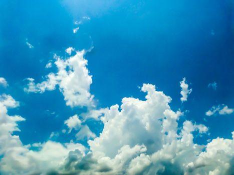white cloud blue sky and heaven