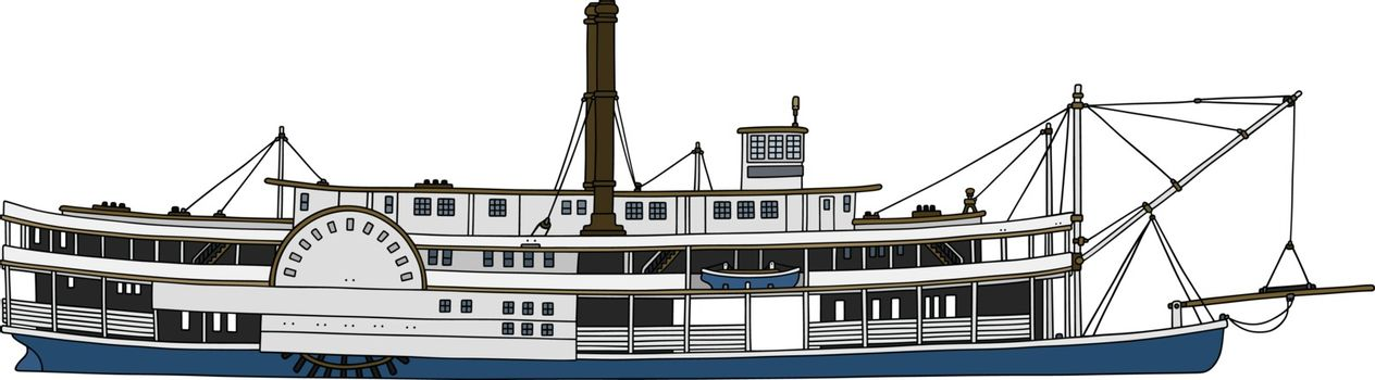 Historical paddle steamboat