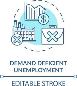 Demand efficient unemployment turquoise concept icon