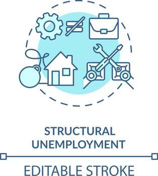 Structural unemployment turquoise concept icon