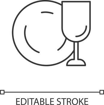 Tableware linear icon