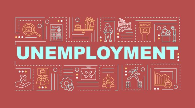 Unemployment word concepts banner