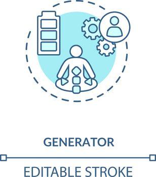 Generator turquoise concept icon