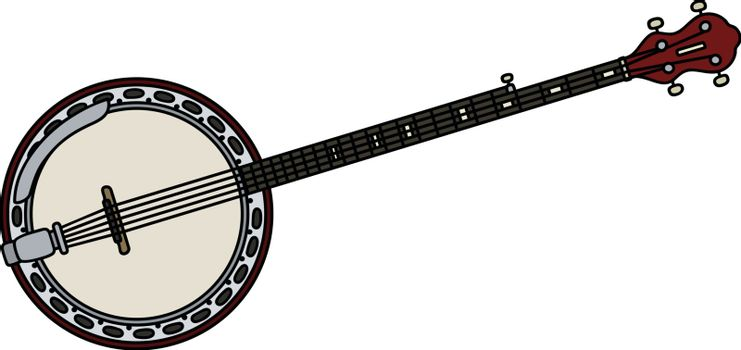 Classic five strings banjo