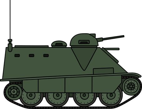 Old armored vehicle
