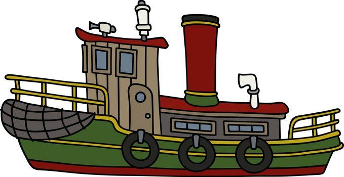 Funny old steam tug boat