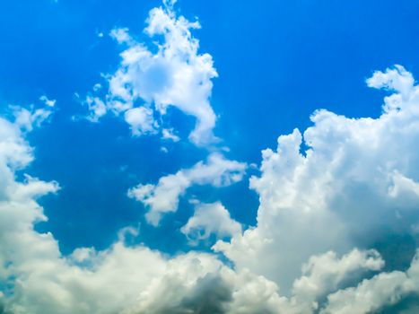 blue sky white cloud and heaven sunshine a day