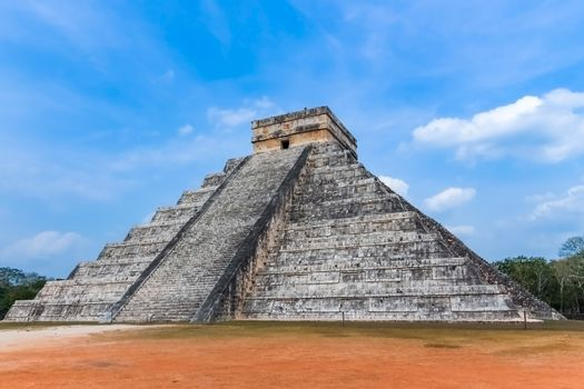 Temple of Kukulcan also known as El Castillo is a step pyramid at Chichen Itza complex