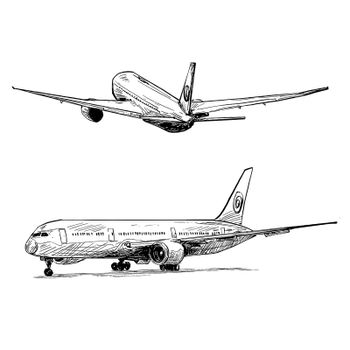 Drawing of the airplane