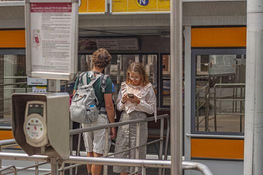 VENICE, ITALY 2 JULY 2020: Public transport venice