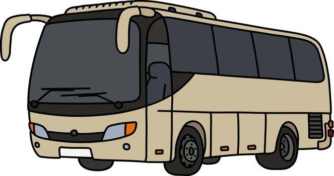 The light beige touristic bus