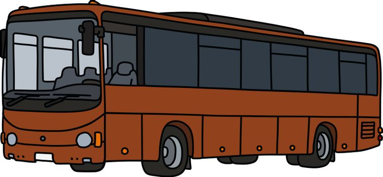 The brown touristic bus