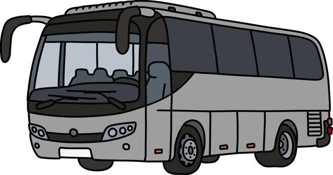 The gray touristic bus
