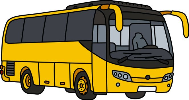 The yellow touristic bus