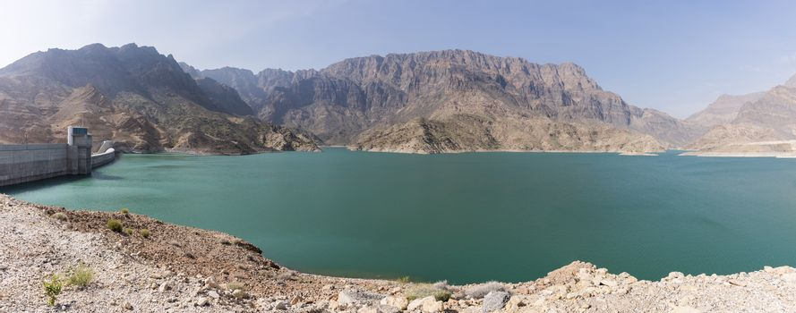 The Sultanate of Oman is a semi-arid country with limited water ressources with a fast growing population. The Dam will help to supply water to different region and it is located at 83 km from  Muscat. The main Dam is 410 meter lenght with 75.43 meters height. Th total capacity of the reservoir is 100 Million m3.