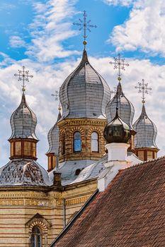 Cupolas of The Orthodox Church of The Holy Spirit, Jekabpils, Latvia