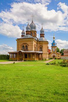 The Orthodox Church of The Holy Spirit in the The Holy Spirit Mens Monastery, Jekabpils, Latvia