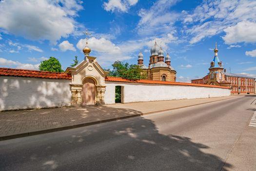 The Orthodox Church in The Holy Spirit Mens Monastery, Jekabpils, Latvia