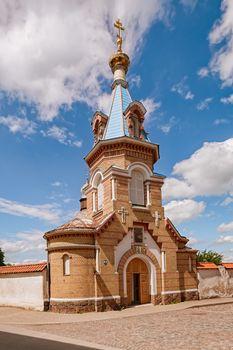 Main entrance to The Holy Spirit Mens Monastery, Jekabpils, Latvia