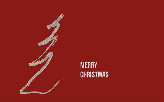 christmas card abstract graphic design on red background in silver and copy space