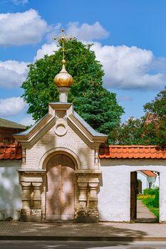 Entrance to The Holy Spirit Mens Monastery, Jekabpils, Latvia