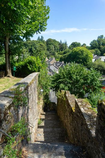 Travel in small french villages street in vacation summer tourism