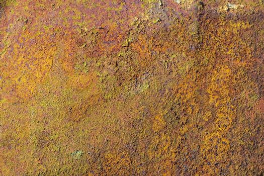 Texture of peeling green paint from metal. Abstract background for design.