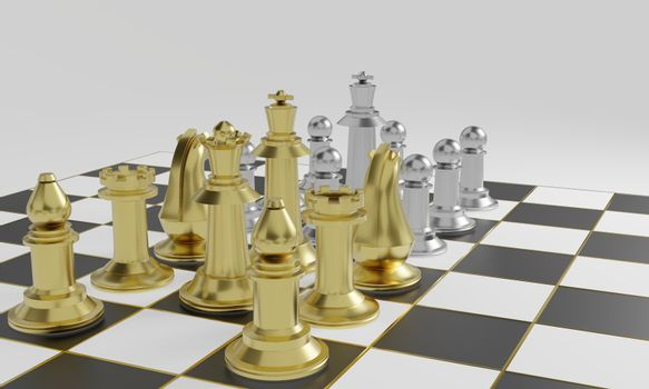 Golden chess pieces more powerful than silver chess pieces