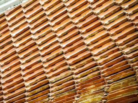 ancient roof of buddhism temple (Wat Thai) outdoor