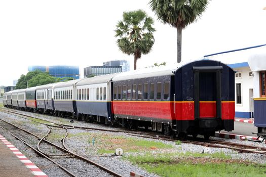 The train stands at Phnom Penh station, Cambodia 1